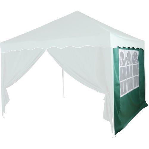 Boční stěna s oknem k zahradním párty stanům, zelená