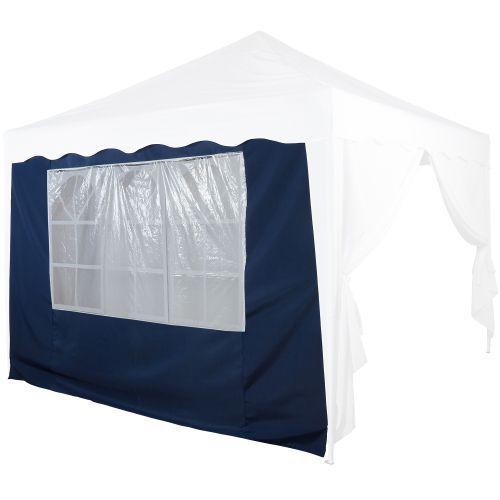 Boční stěna s oknem k zahradním párty stanům, modrá