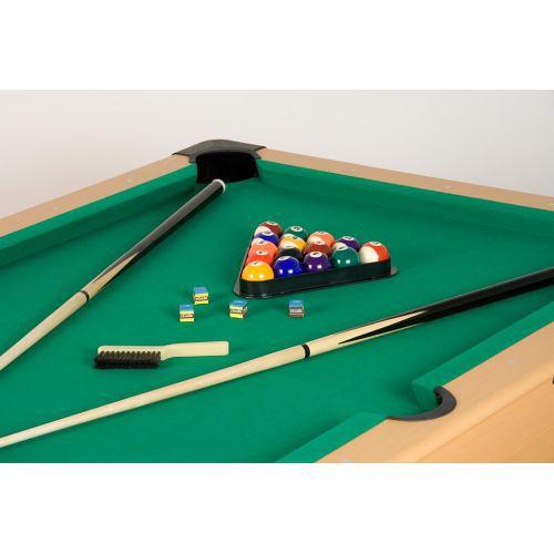 Kompaktní kulečníkový stůl 5 ft, centrální vracení koulí, zelený, vč. příslušenství