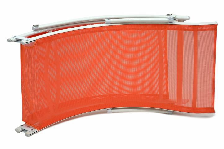 Ergonomické relaxační lehátko s textilním výpletem, skládací, oranžové