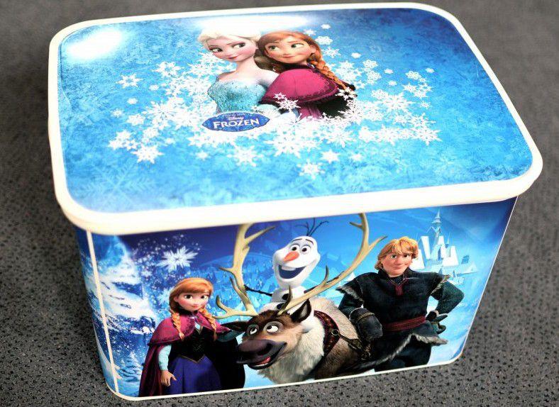 Úložný plastový box s víkem do dětského pokoje, velký, Ledové království