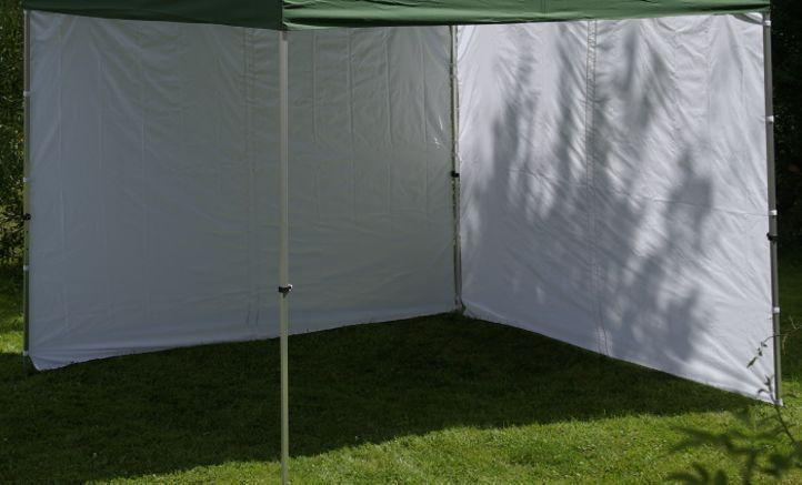 2 boční stěny k zahradním párty stanům, bez oken, bílé