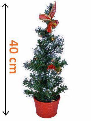 Umělý vánoční stromek v květináči- svítící, na baterie, 40 cm