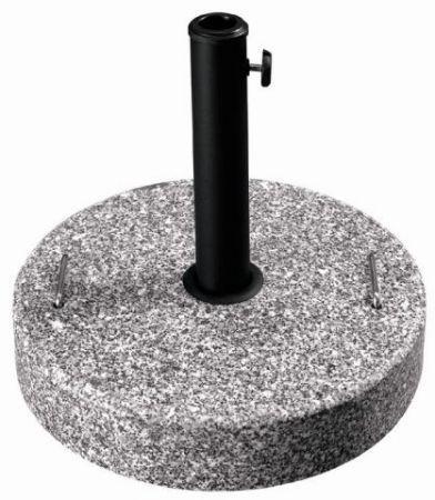 Kulatý podstavec pod zahradní slunečníky, granit, 25 kg