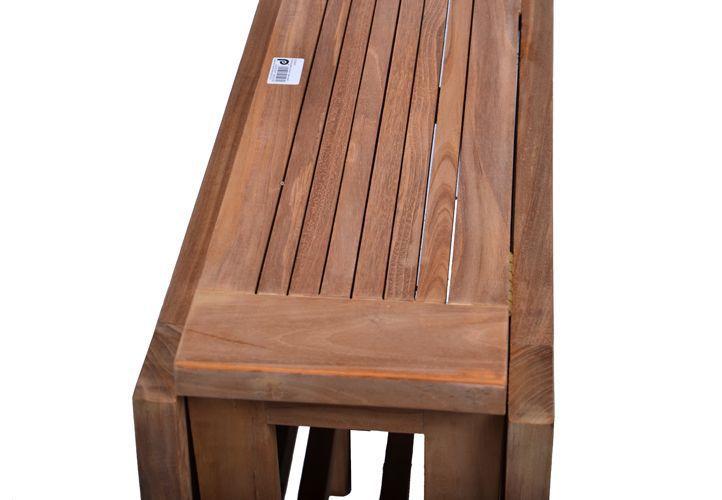 Zahradní dřevěný obdélníkový stůl z teakového dřeva