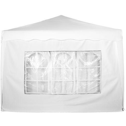 Boční stěna s oknem k zahradním párty stanům, bílá