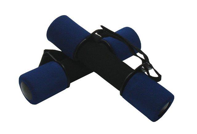 Činky s molitanovým potahem na kondiční cvičení a aerobik, 2x1 kg