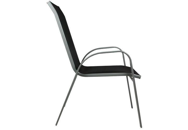 Sestava zahradního kovového nábytku, stohovatelné židle, 5 ks