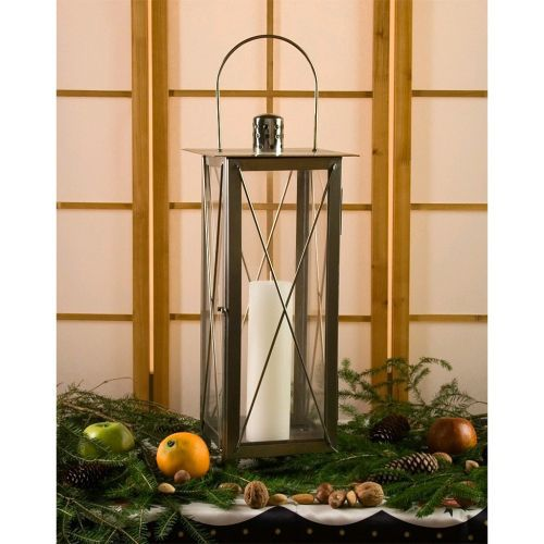 Okrasná nerezová lucerna na svíčku, 55 cm