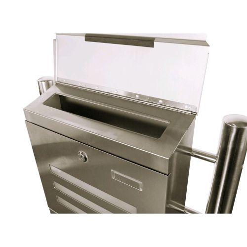 Nerezová poštovní schránka se stojanem, velká kapacita, 120 cm