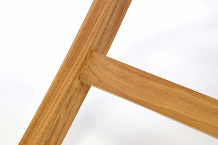 Menší dřevěný stolek na zahradu, terasu, balkon, 80x80 cm, týkové dřevo
