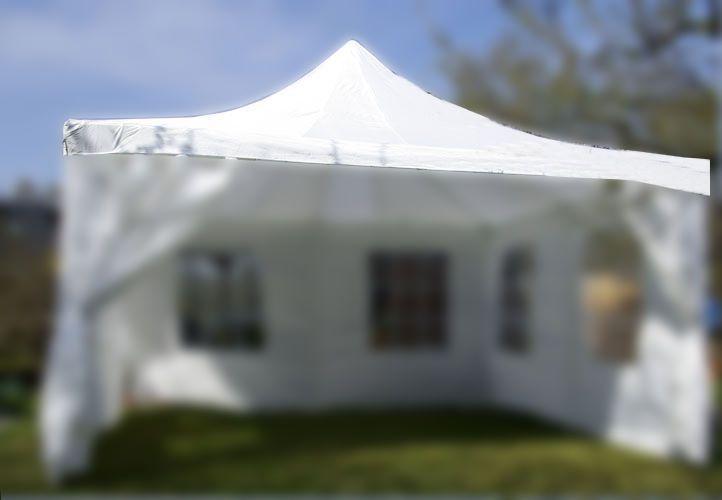 Samostatná střecha k zahradním párty stanům 4x4 m, bílá