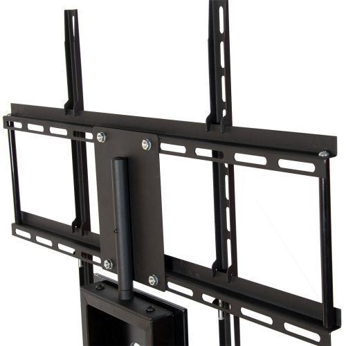 Vysoký designový stolek na TV vč. držáku televize, černý
