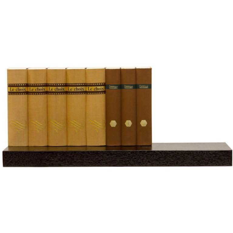 Nástěnná polička s levitujícím efektem hnědočerná, 70 cm