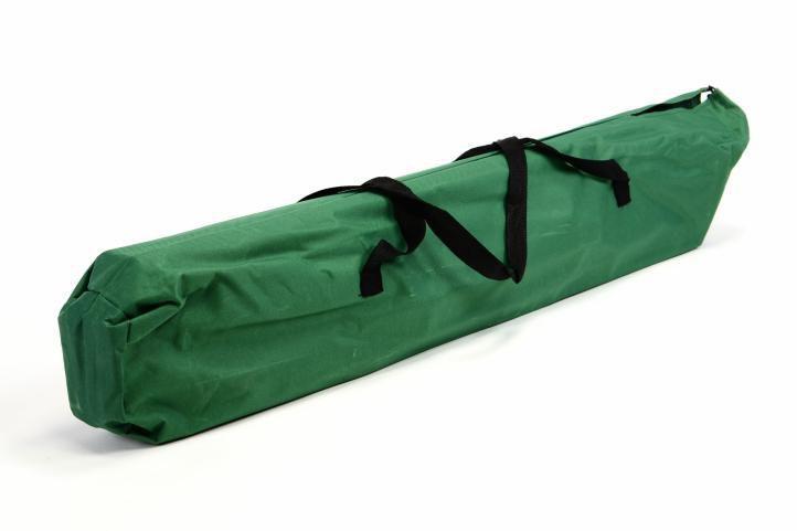 Skládací lehátko / postel na cestování, kempování, 210x64x42 cm, zelené