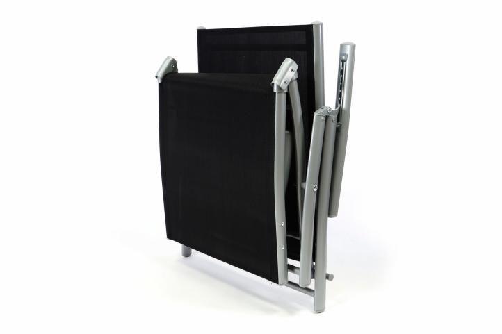 2 ks polohovací zahradní lehátko, kovový rám / textilní výplň