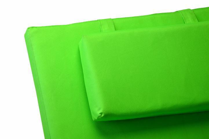2 ks luxusní polstrování na lehátka, pratelný potah, zelené