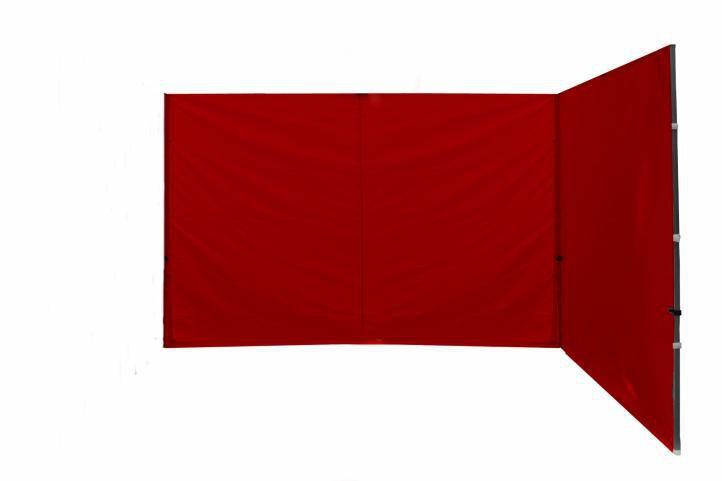 2 boční stěny bez oken pro zahradní párty stany Profi, červená