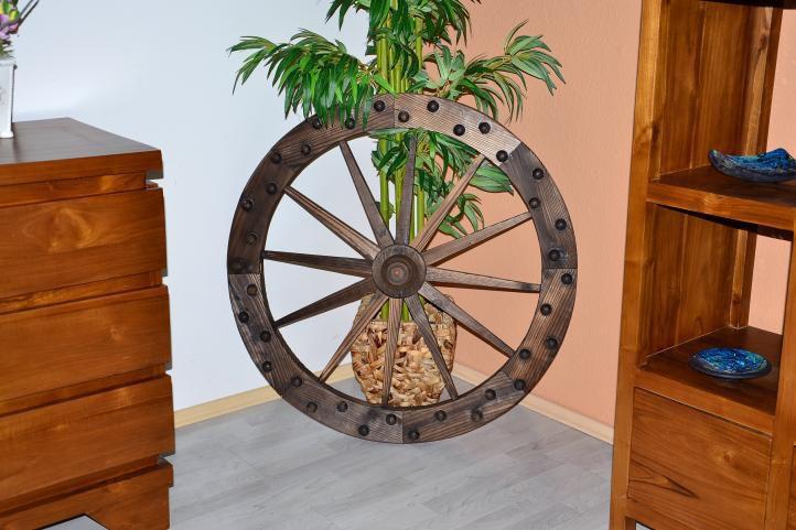 Dřevěné ozdobné kolo - stylová dekorace do interiéru / na zahradu, 90 cm