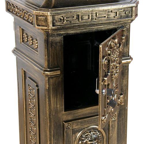 Okrasná poštovní schránka se starožitným vzhledem, hliníková
