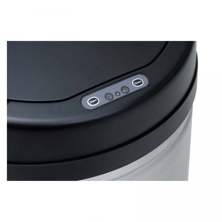 Odpadkový koš s čidlem 30 l, bezdotykové otevírání, černá / broušený nerez