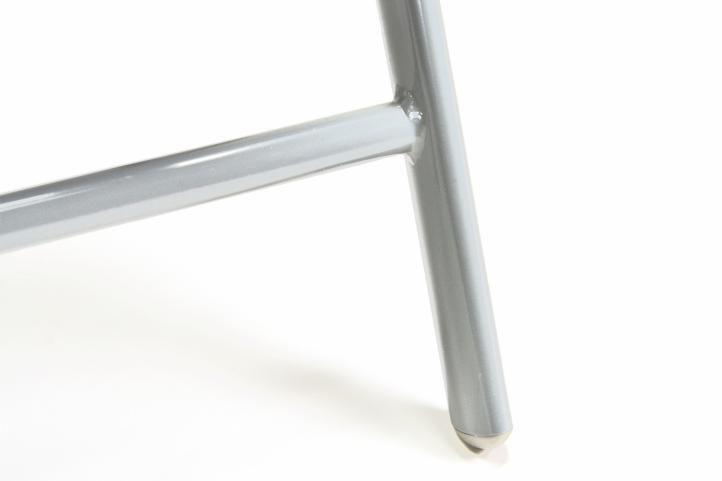 Sada 4 ks skládacích venkovních židlí, hliníkový rám / textilní výplet