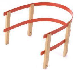 Opěrná ohrádka na sáňky, dřevo / plast
