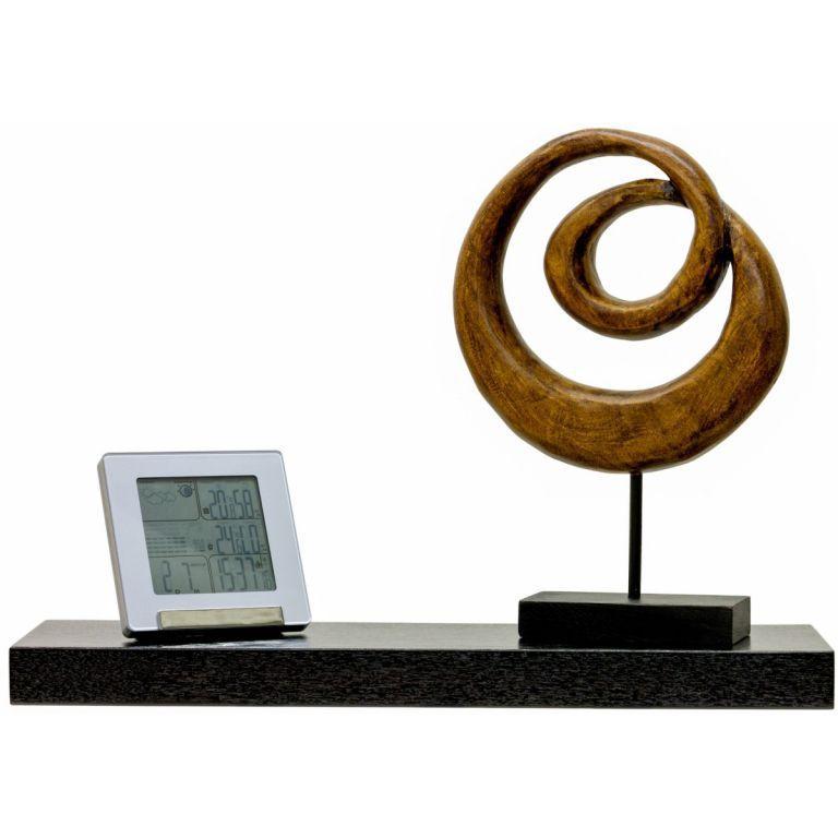 Nástěnná polička s levitujícím efektem hnědočerná, 50 cm