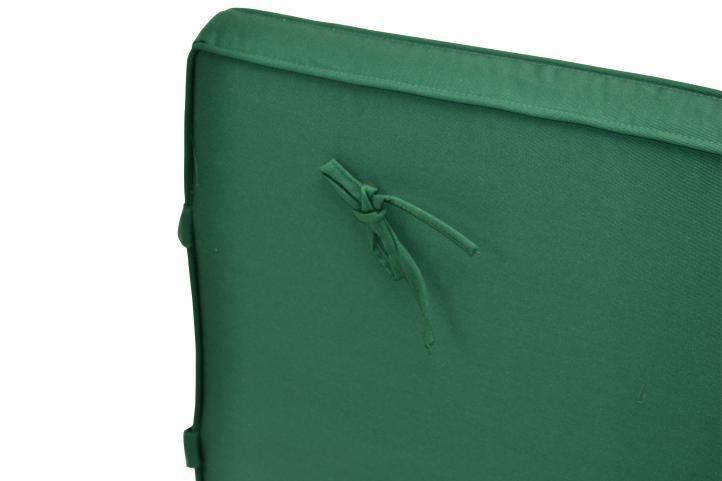 2 ks polstrování na zahradní židli s polštářkem, snímatelný potah, zelené