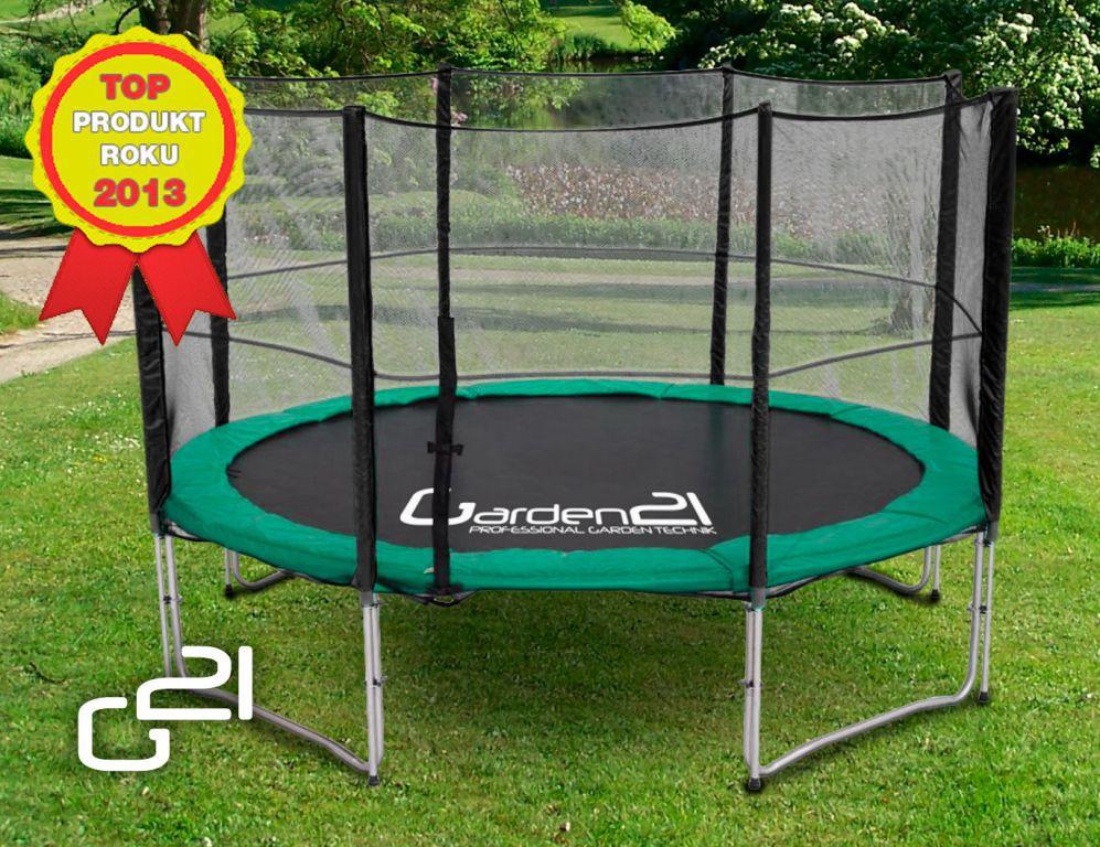 Velká zahradní rodinná trampolína s ochrannou sítí, 305 cm, nosnost 150 kg