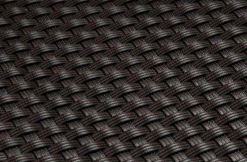 Polyratanový truhlík / květináč 60 cm, tmavě hnědý