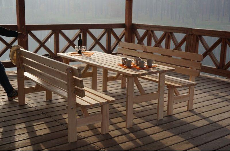 Zahradní dřevěná lavice z masivu 180 cm, nelakovaná borovice