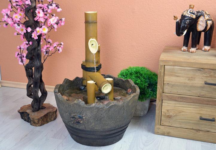 Dekorativní fontána venkovní / vnitřní, bambusové tyče, 62 cm
