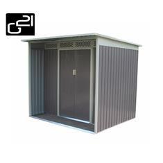 Plechový zahradní domek s posuvnými dveřmi, 213x196x186 cm , šedý