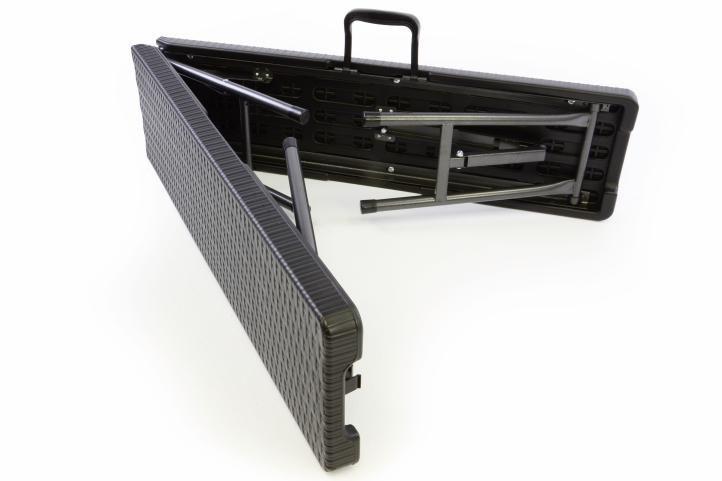 Skládací pivní lavice 180 cm, kovová konstrukce / plastový sedák
