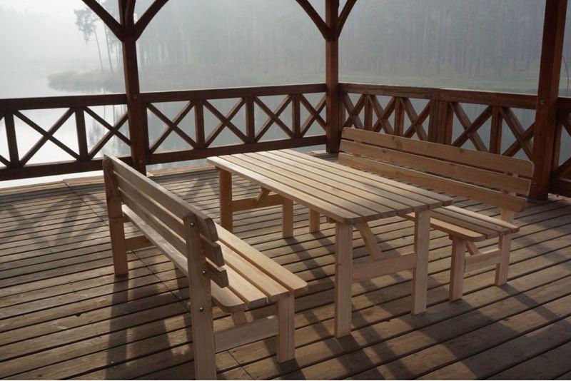 Dřevěný zahradní stůl obdélníkový 180 cm, nelakovaná borovice