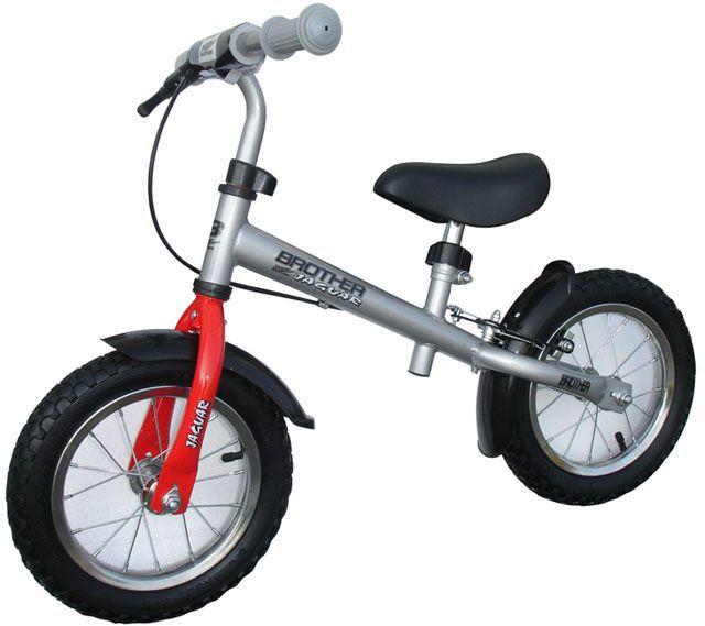 Dětské odrážedlo s kovovým rámem, pneu 12 - nafukovací, stříbrné