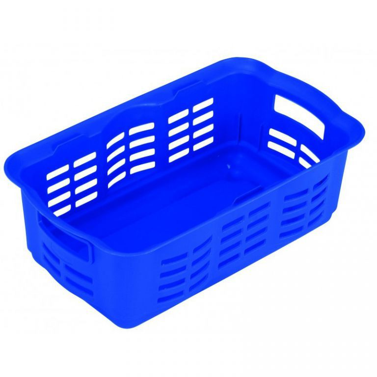 Plastová přepravka na menší předměty, bez víka, malá, modrá