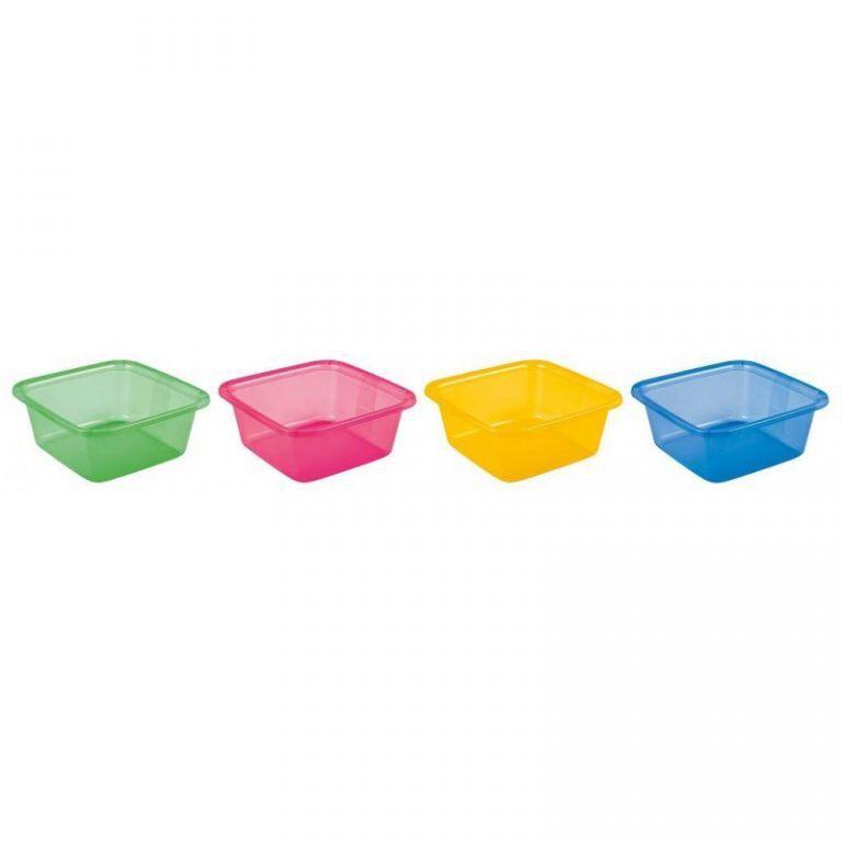 Plastové umyvadlo čtvercové, 11 l, různé barvy