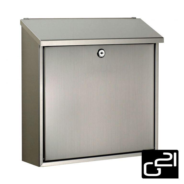 Poštovní schránka 360x365x100 mm, stříbrná, nerez