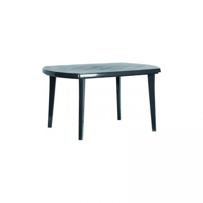 Plastový zahradní stůl oválný, odpojitelné nohy, grafit