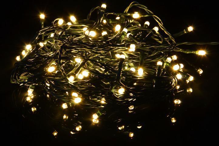 Svítící LED řetěz venkovní / vnitřní, blikající funkce, 19,9 m