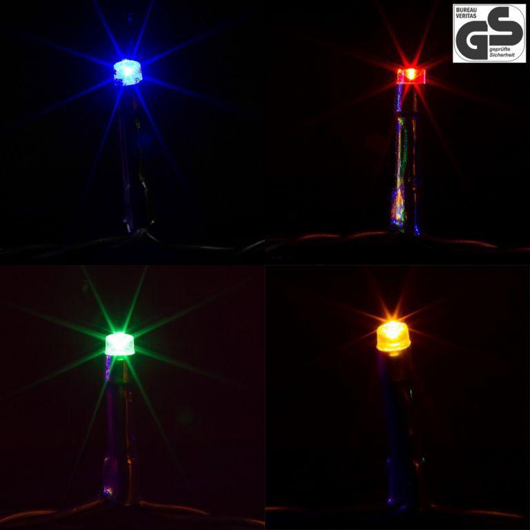 Vánoční světelný řetěz barevný, venkovní / vnitřní, 400 diod, 40 m