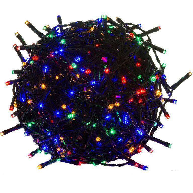Vánoční světelný řetěz barevný, venkovní / vnitřní, 200 diod, 20 m