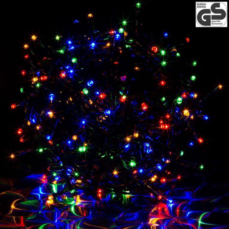 Vánoční světelný řetěz barevný, venkovní / vnitřní, 100 diod, 10 m