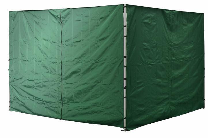 2 ks boční stěna pro PROFI stany, jedna se zipem, zelená