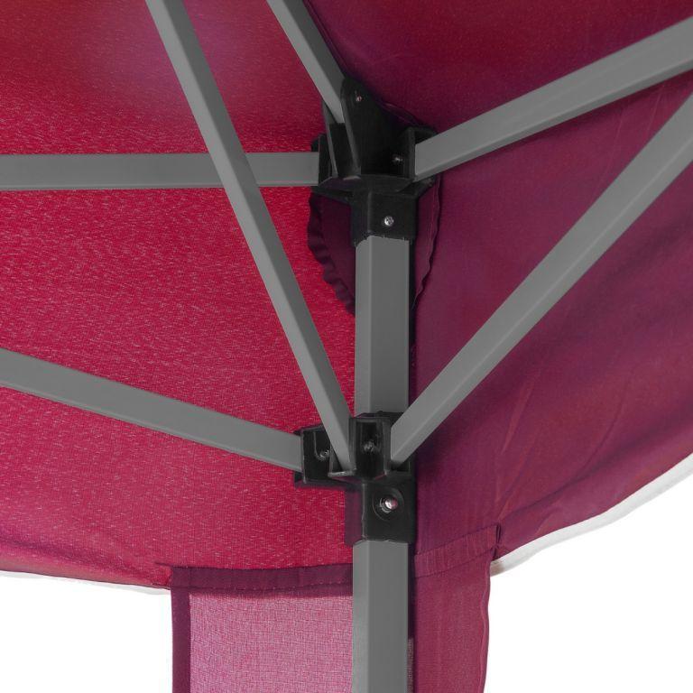 Menší skládací altán 3x3 m, nůžkový, červený