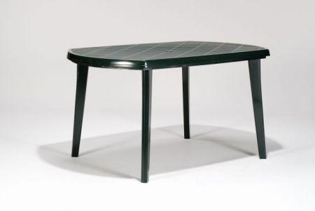 Zahradní plastový stůl zelený, odnímatelné nohy