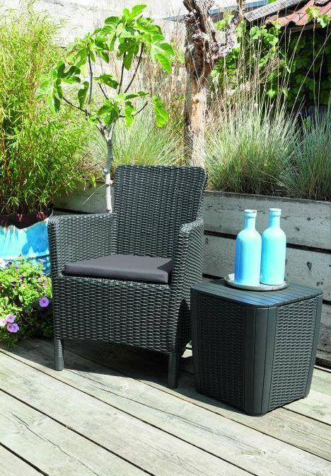 Designové křeslo na terasu / zahradu, vč. polstrování, antracit