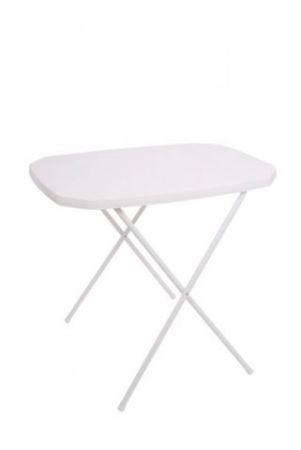 Menší venkovní skládací stolek- kempování, zahrada, chata- bílý